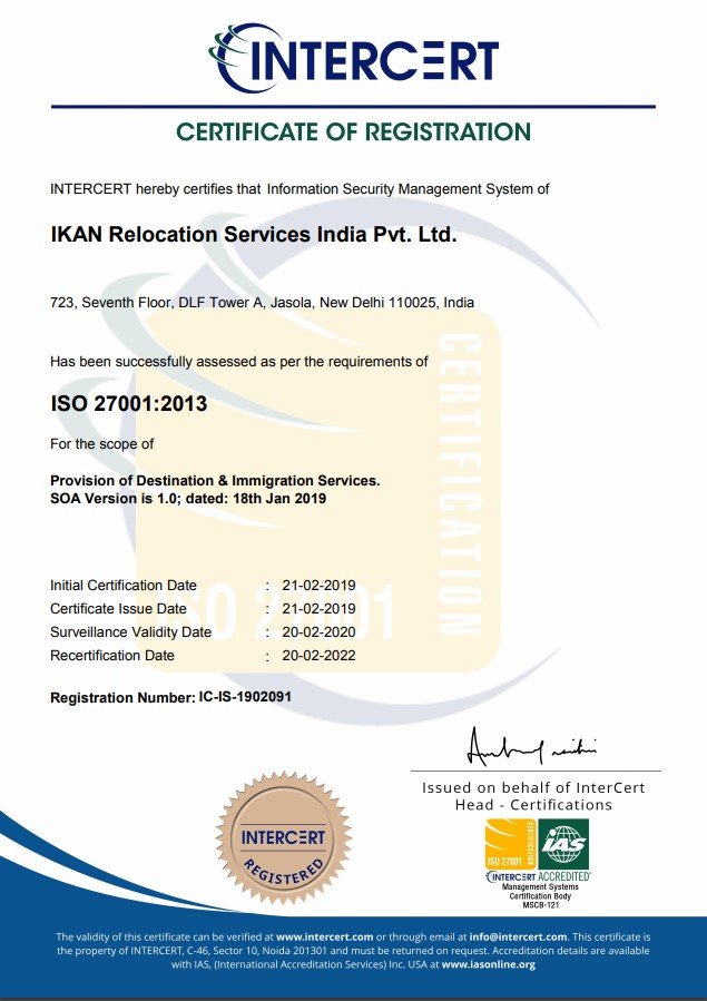 intercert certificate of registration