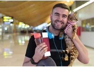 cat at airport